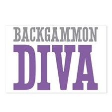 Backgammon DIVA Postcards (Package of 8)