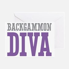 Backgammon DIVA Greeting Card