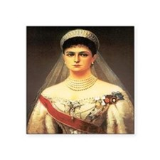 "Alexandra Romanova Square Sticker 3"" x 3"""