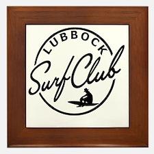 Lubbock Surf Club Framed Tile