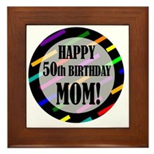 50th Birthday For Mom Framed Tile
