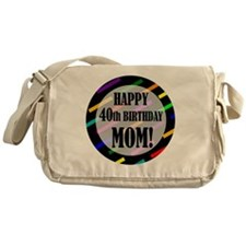 40th Birthday For Mom Messenger Bag