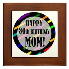 80th Birthday For Mom Framed Tile