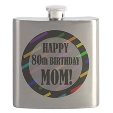 80th Birthday For Mom Flask