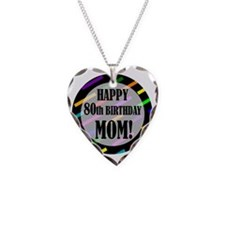 80th Birthday For Mom Necklace