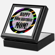 80th Birthday For Mom Keepsake Box