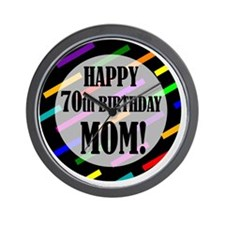70th Birthday For Mom Wall Clock