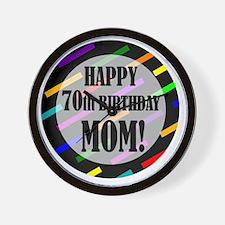 70th Birthday For Mom Wall Clock