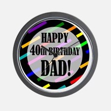 40th Birthday For Dad Wall Clock