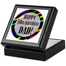 50th Birthday For Dad Keepsake Box