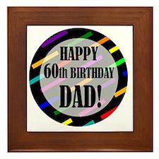 60th Birthday For Dad Framed Tile