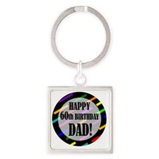 60th Birthday For Dad Square Keychain