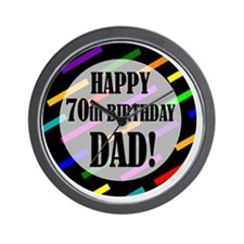 70th Birthday For Dad Wall Clock