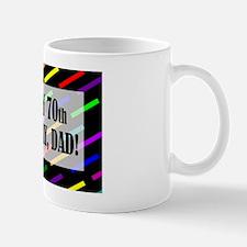 70th Birthday For Dad Small Small Mug