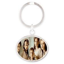 Romanov Children Oval Keychain