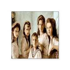 "Romanov Children Square Sticker 3"" x 3"""