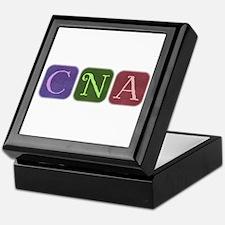 CNA Denim Look Squares Keepsake Box