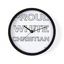 Proud White Christian Wall Clock