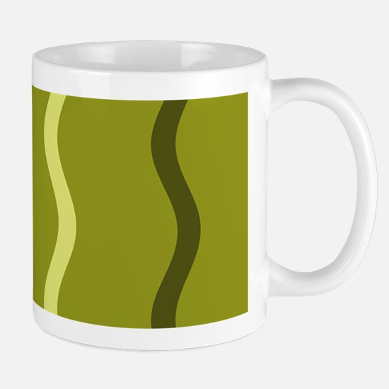 Olive Green Splendor Squiggles 3 Mug