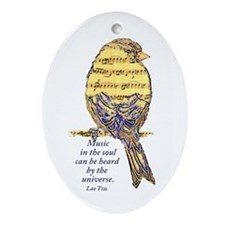 Music in the Soul quote  Music Note  Oval Ornament