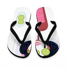 Spa Party Pink Flip Flops