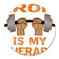 blk_iron_is_my_therapy Round Car Magnet