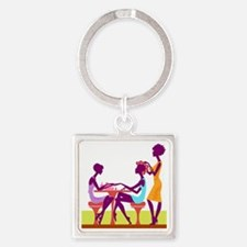 Day of Beauty Square Keychain