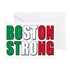 italian Boston Strong Greeting Card