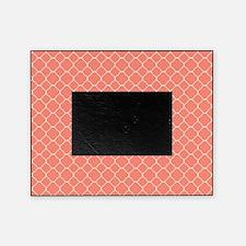 Coral Quatrefoil Pattern Picture Frame