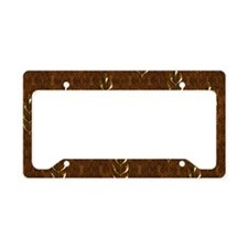 Gold Leaves License Plate Holder