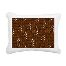 Gold Leaves Rectangular Canvas Pillow
