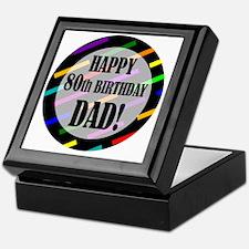 80th Birthday For Dad Keepsake Box