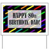 80th birthday Yard Signs