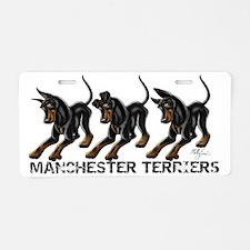 3 Standard Manchester Terri Aluminum License Plate
