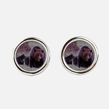 Grizzly Bear 399  her Triplet Cubs Cufflinks