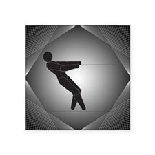 "Waterskiing Square Sticker 3"" x 3"""