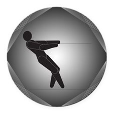 Waterskiing Round Car Magnet