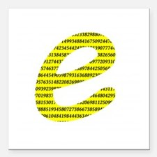 "1000 Digits of e Square Car Magnet 3"" x 3"""