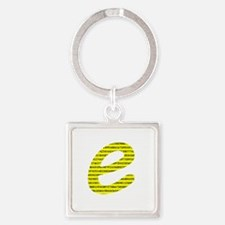 1000 Digits of e Square Keychain