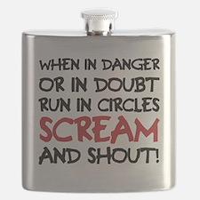 Danger Doubt Scream & Shout Flask