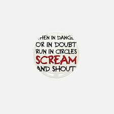 Danger Doubt Scream & Shout Mini Button