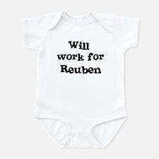 Will work for Reuben Infant Bodysuit