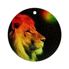 Rasta Lion  Round Ornament