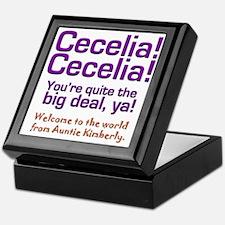 cecelia bear 2 Keepsake Box