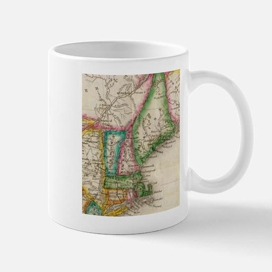 Vintage Map of New England (1822) Mugs