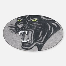 Panther Print Sticker (Oval)