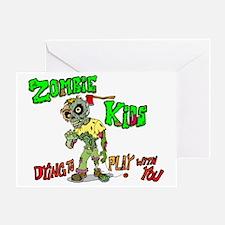 Zombie kids Greeting Card