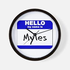 hello my name is myles  Wall Clock