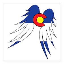 "Colorado Wings Square Car Magnet 3"" x 3"""