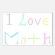 I Love Math (for dark bac Postcards (Package of 8)